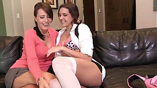 Hot MILF Teacher Ana have to visit young tight college girl Katy´s house