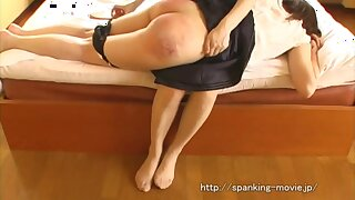 Naughty girl with bubble ass - spanking video