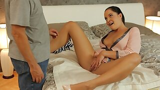 DADDY4K. darkhaired babe revenges on BF by having intercourse with his