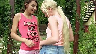 18plus European lesbian teens outdoors