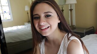 Teen With Natural Big Tits & Big Ass, Interview Fuck, POV