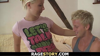 Very rough teen punishment for cheating